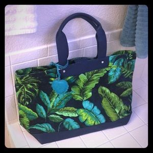 Handbags - NavyBlue And Green Cabana Tote